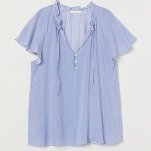 🌺 H&M Butterfly Sleeve Blouse Powder Blue NWT